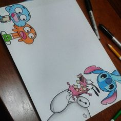 Best weapons in the world. Doodle Art Drawing, Pencil Art Drawings, Art Drawings Sketches, Easy Drawings, Cute Disney Drawings, Kawaii Drawings, Cartoon Drawings, Disney Kunst, Disney Art