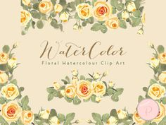 WCA92-yellow-ivory-rose-floral-cliparts