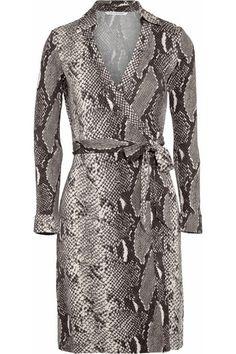 Fabulous Diane von Furstenberg snake print wrap dress.