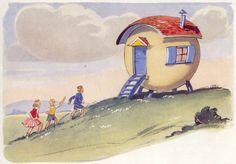 """The Surprising Caravan"", 1946 Publisher: Brockhampton Press Illustrator: Eileen A. Soper"