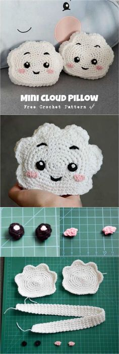 Just look at these cute mini Cloud Pillows. We have free crochet pattern for you to learn how to crochet Mini Cloud Pillow.