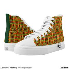 Colourful Kente Printed Shoes $83.15 #zipz #saytoons #zazzle