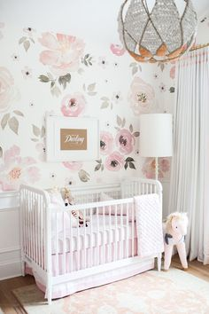 Holy Floral Wallpaper! Monika Hibbs' Floral Nursery Details.