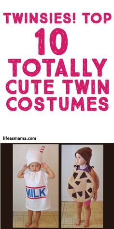 Halloween is a fun time to indulge in creativity and spend an evening dressed up as someone else. There is no shortage of costume options, and some parents get super… Twin Girls Halloween, Cute Costumes, Halloween Costumes For Girls, Halloween Kostüm, Youtube Halloween, Halloween Activities, Vintage Halloween, Costume Ideas, Twin Baby Girls