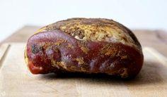 Zdjęcie: Suszona szynka / Dried ham Smoking Meat, Baked Potato, Ham, Sausage, Homemade, Baking, Ethnic Recipes, Joker, Food