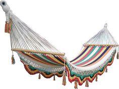 Rainbow hammock por veronicacolindres en Etsy, $75.00