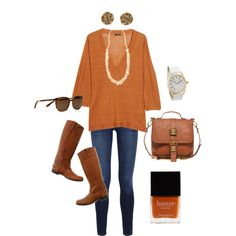 Longhorn Game Day Chic I suppose it would have to be a late-season game to wear a SWEATER! Football Outfits, Love Clothing, Cool Style, My Style, Work Attire, Dress To Impress, What To Wear, Autumn Fashion, Cute Outfits