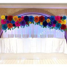 Mexican Fiesta backdrop for the main table of a Quinceañera and her Court of Honor. Mexican Quinceanera Dresses, Quinceanera Planning, Quinceanera Themes, Mexican Fiesta Birthday Party, Fiesta Theme Party, Mexican Party Decorations, Quince Decorations, Quince Themes, Quince Ideas