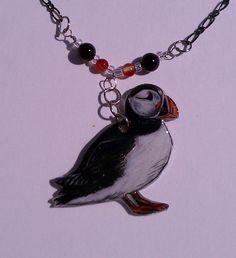 Atlantic Puffin Necklace. $45.00, via Etsy.  awwww!!!!!