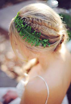 Brides: Subtle Fishtail Braid Wedding Hairstyle