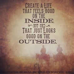 Create a life that feels good on the inside, not one that just looks good on the outside. #bestrong #stsranch pic.twitter.com/e2m4slo3m0