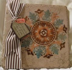 Stamp & Scrap with Frenchie: Time for Video! Decorative tile