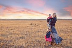 Mom with daughters. Family Portraits.  Southern California Portrait and wedding photographer creating natural, Timeless, fun images full of warmth and a memories you can cherish for a lifetime | Hannah Sons Portrait Photographer