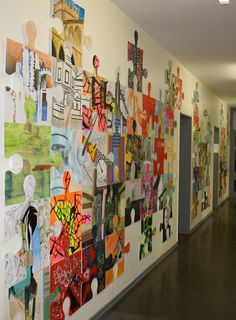 puzzle art installation & collaborative project germany tim kelly artist world-wide