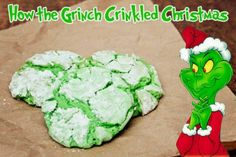 grinch dishes set   How the Grinch Crinkled Christmas Cookies Ingredients 1 18.25 oz box ...