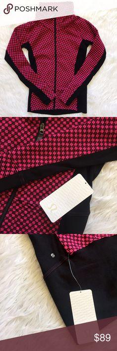 • Lululemon • Pink Radiant Jacket Thick warm cotton fleece. Thumb holes. NEW with tags. ❗️Open to reasonable* offers lululemon athletica Jackets & Coats
