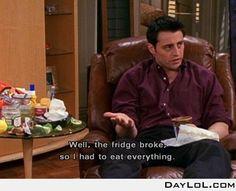 Joey Tribbiani's logic - DayLoL.com - Your Daily LoL!