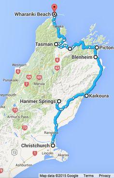 NZ South Island itinerary wk 1