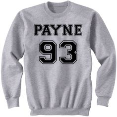 Payne 93 Sweatshirt Liam Payne One Direction Sweater One Direction... ($25) ❤ liked on Polyvore featuring tops, hoodies, sweatshirts, one direction, shirts, black, women's clothing, roll up shirt, long tops and crew-neck sweatshirts