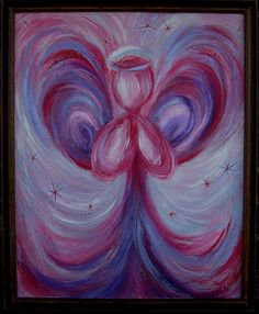 Angel of Love Framed Acrylic Contemporary Painting by kamigallery, $300.00