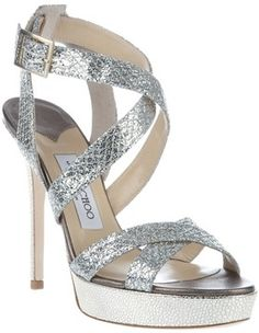 Jimmy Choo  Jimmy Choo 'vamp' sandal - Click image to find more Women's Fashion Pinterest pins