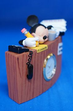 Mickey Mouse is Ready for Vacation Clock