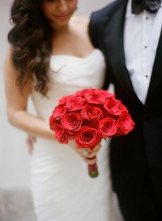 Red rose bouquet: http://www.stylemepretty.com/little-black-book-blog/2013/12/31/cipriani-wedding/ | Photography: Heather Waraksa - http://heatherwaraksa.com/