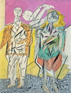 Untitled (Man and Woman), 1947   Willem de Kooning