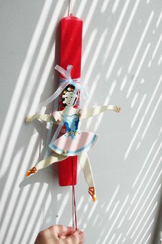 Greek Easter candle with ballerina by ArktosCollectibles on Etsy