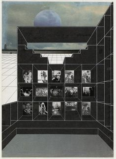 Exodus or the Voluntary Prisoners of Architecture is the final AA 1972 thesis of Rem Koolhaas, Madelon Vreisendorp, Elia Zenghelis, and Zoe Zenghelis. It elaborates a narrative of a walled city within London similarly to the Berlin situation at the time. Oma Architecture, Architecture Portfolio, Architecture Drawings, Classical Architecture, Rem Koolhaas, Photomontage, Architectural Association, West Berlin, Urban Fabric