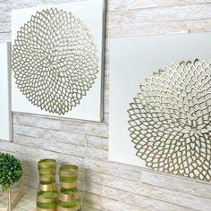 Diy Room Decor Videos, Diy Crafts For Home Decor, Diy Crafts Hacks, Diy Arts And Crafts, Metal Wall Decor, Diy Wall Art, Diy Wall Decor, Diy Para A Casa, Creation Deco
