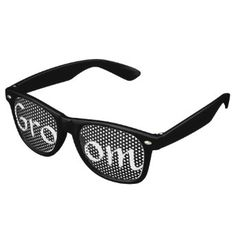 Black and White Groom Fun Bachelor Party Party Shades