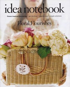 flower arrangement in basket purse