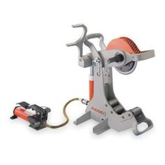 Model 258 Power Pipe Cutter cut 2 - Sch steel pipe, galvanized pipe, rigid conduit, etc. at the jobsite or in the shop. Dyi, Water Saving Devices, Ridgid Tools, Handyman Projects, Frozen Pipes, Plumbing Tools, Galvanized Pipe, Water Company, Electric Co