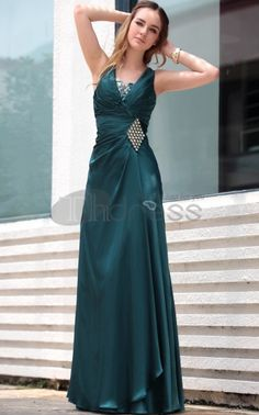 Dark green Ruffle V-Neck Party Dresses For Girls