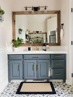 20 Most Favorite Bathroom Mirror Ideas to Update Your Style DIY bathroom renovations to turn a builder-grade bathroom into a custom space renovations Diy Bathroom Reno, Bathroom Vanity Cabinets, Bathroom Renos, Bathroom Organization, Remodel Bathroom, Bathroom Makeovers, Bathroom Remodeling, Bathroom Storage, Remodeling Ideas