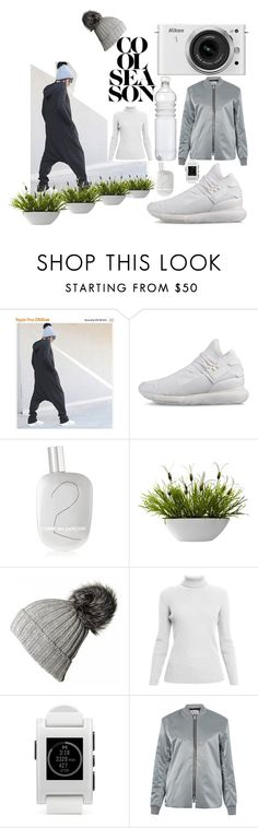 """""""cool"""" by kotyto ❤ liked on Polyvore featuring Nikon, Y-3, Comme des Garçons, Nearly Natural, Rumour London, Pebble, Acne Studios, polyvoreeditorial and kotyto"""