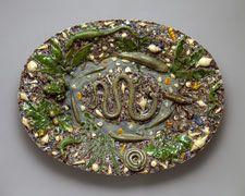 Platter last quarter of 16th century School of Bernard Palissy (French) Lead-glazed earthenware