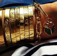 Aurélie's Favorite Solar Gold engraved bangles are available on our Estore !