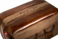 cotton&leather vintage puff