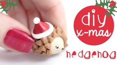 Merry Christmas! If you ever wanted to make to make a christmas hedgehog, this is the video for you :D How to make a Polymer Clay Hedge hog charm! ~Tips and ...