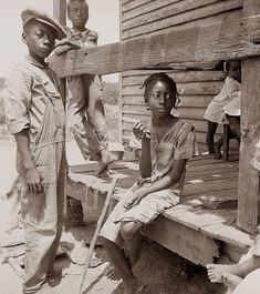 Children on porch from 1936 Mississippi. Sometimes I wonder if these people had it worse, or people today living in inner city slums. The children were probably born around 1930, so they well could still be alive today. You really wish you could hear their story, and know how things turned out for them.