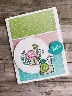 Another cute Snailed it Card featuring the Snail Mail suite from the January to June 2021 Mini Catalogue by Stampin' Up! Snail Cards, Mini Albums, Cute Birthday Cards, Stamping Up Cards, Animal Cards, Kids Cards, Greeting Cards Handmade, Homemade Cards, Note Cards
