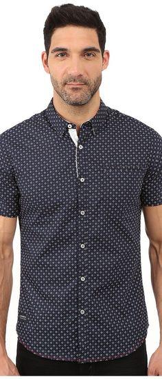7 Diamonds Dawn Short Sleeve Shirt (Navy) Men's Short Sleeve Button Up - 7 Diamonds, Dawn Short Sleeve Shirt, SMK-5646-410, Apparel Top Short Sleeve Button Up, Short Sleeve Button Up, Top, Apparel, Clothes Clothing, Gift, - Street Fashion And Style Ideas