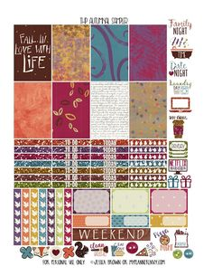 Autumnal Sampler for the Happy Planner from myplannerenvy.com