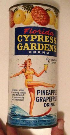 Pineapple Grapefruit Juice, Cypress Gardens Florida.