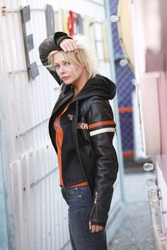 Harley Davidson Jacket  (Women's Pre-owned Miss Enthusiast Leather Biker Coat)
