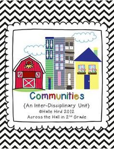 It's an Inter-Disciplinary Community Unit! Introduce students to types of communities {Rural, Urban, & Suburban} via pen pals!!!