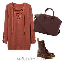 """""""Untitled #105"""" by standinfashion on Polyvore featuring Givenchy and Dr. Martens"""
