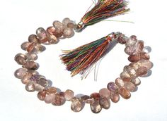8 Inches/55 Stones Natural Moss Amethyst by RareGemsNJewels, $57.95